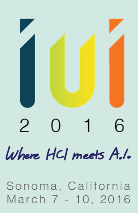 -closed- Papers due to Oct, 9, 2015 ACM IUI 2016 Sonoma (California, US) March 7-9, 2016